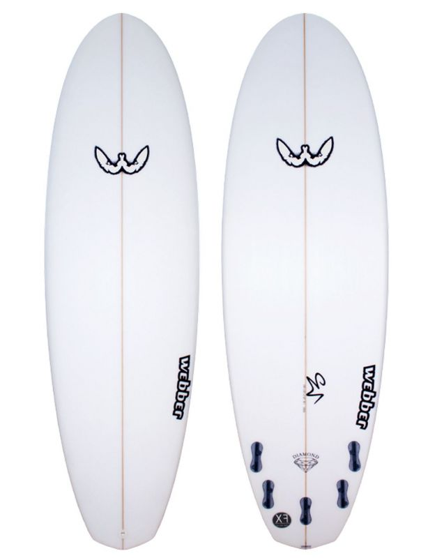 Surfboard WEBBER - Double Diamond 6.8 XF hybrid