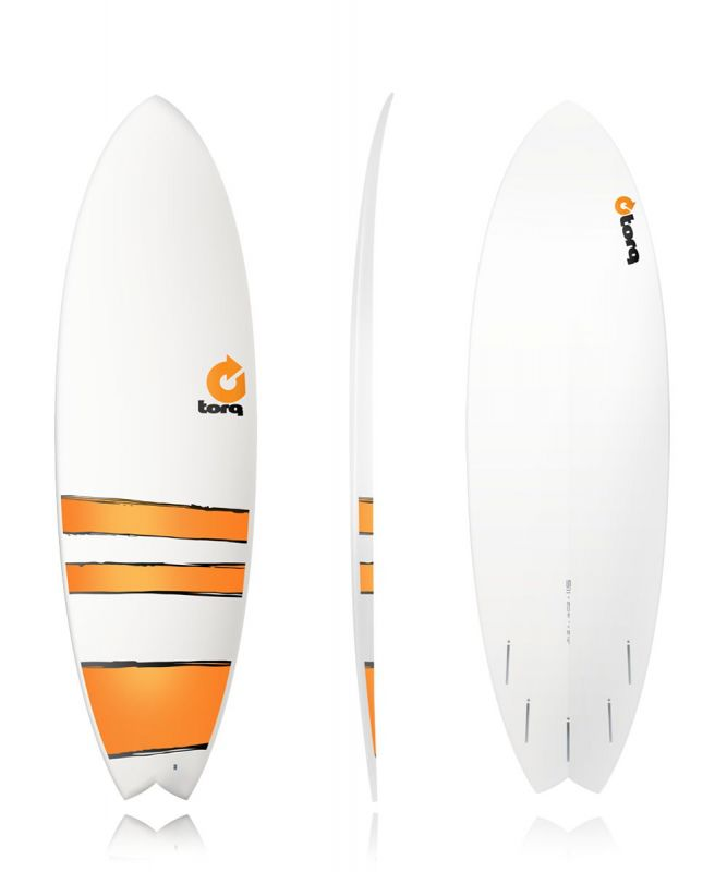 Surfboard TORQ Epoxy TET 5.11 Fish Orange Bands