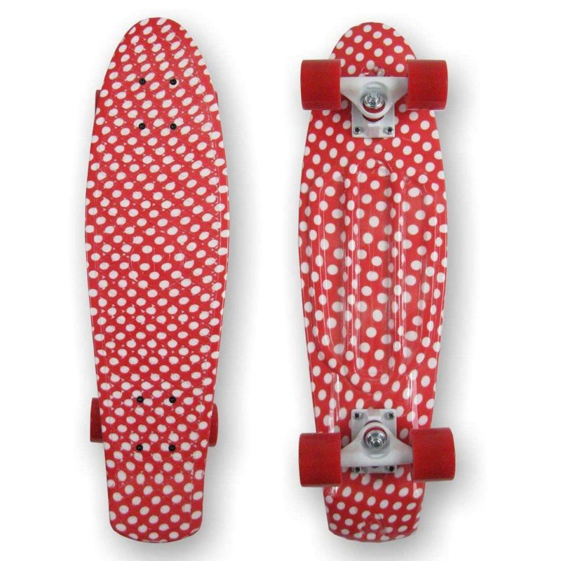 PROHIBITION Retro Plastic Skateboard 28 Polka