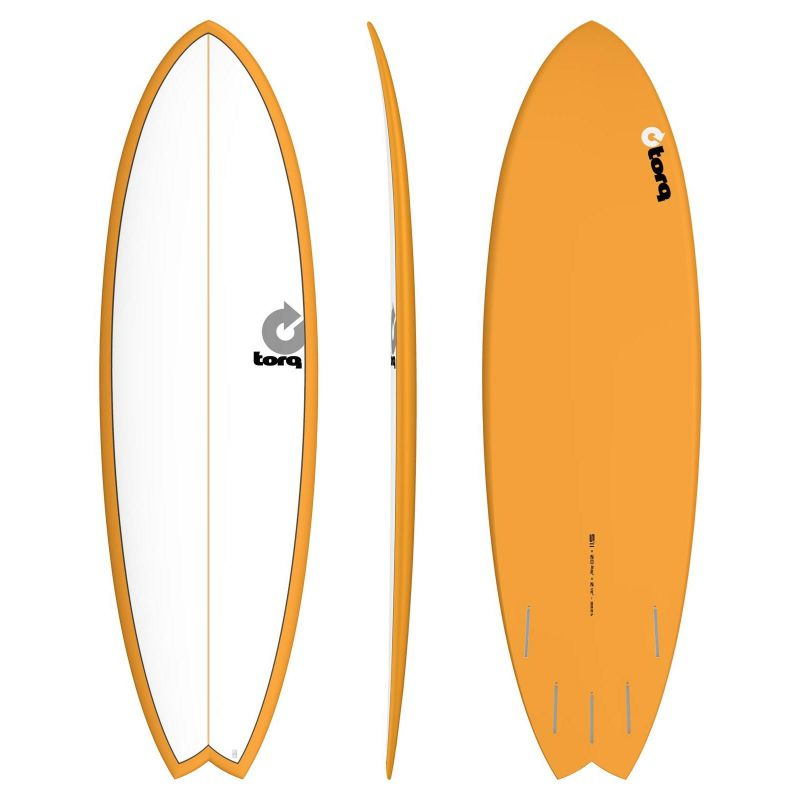 Surfboard TORQ Epoxy TET 5.11 Fish White Orange