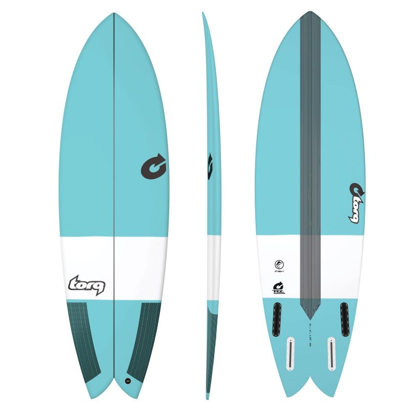 Surfboard TORQ Epoxy TEC Fish 5.8 blue