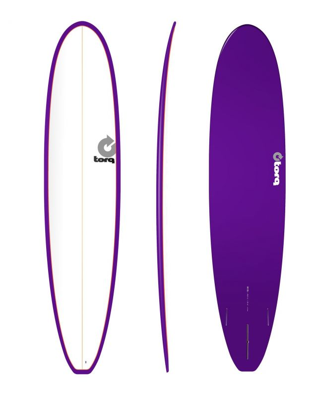 Surfboard TORQ Epoxy TET 8.6 Longboard White Purpl