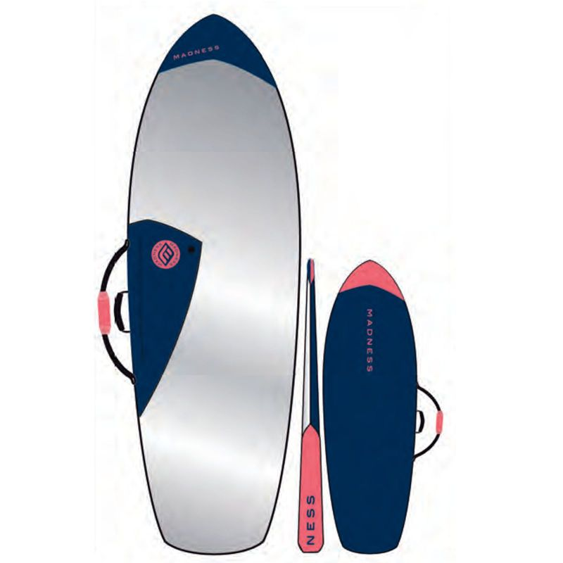 MADNESS Boardbag PE 6.4 Fish Blau Rot