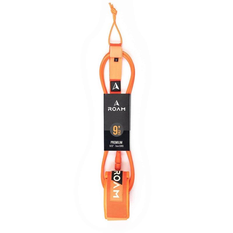 ROAM Surfboard Leash Premium 9.0 Knie 7mm Orange