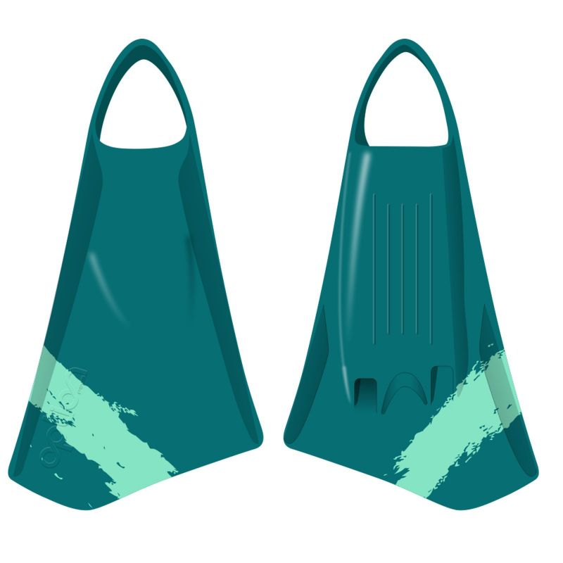 Bodyboard Flossen OPTION  MK2 L 45-46 Teal Jade