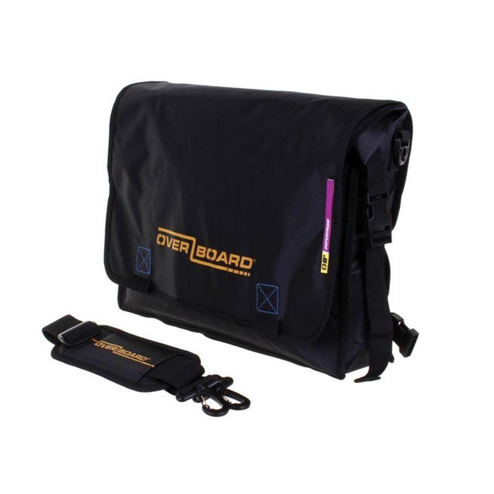 Overboard Waterproof Messenger LIGHT Bag  black