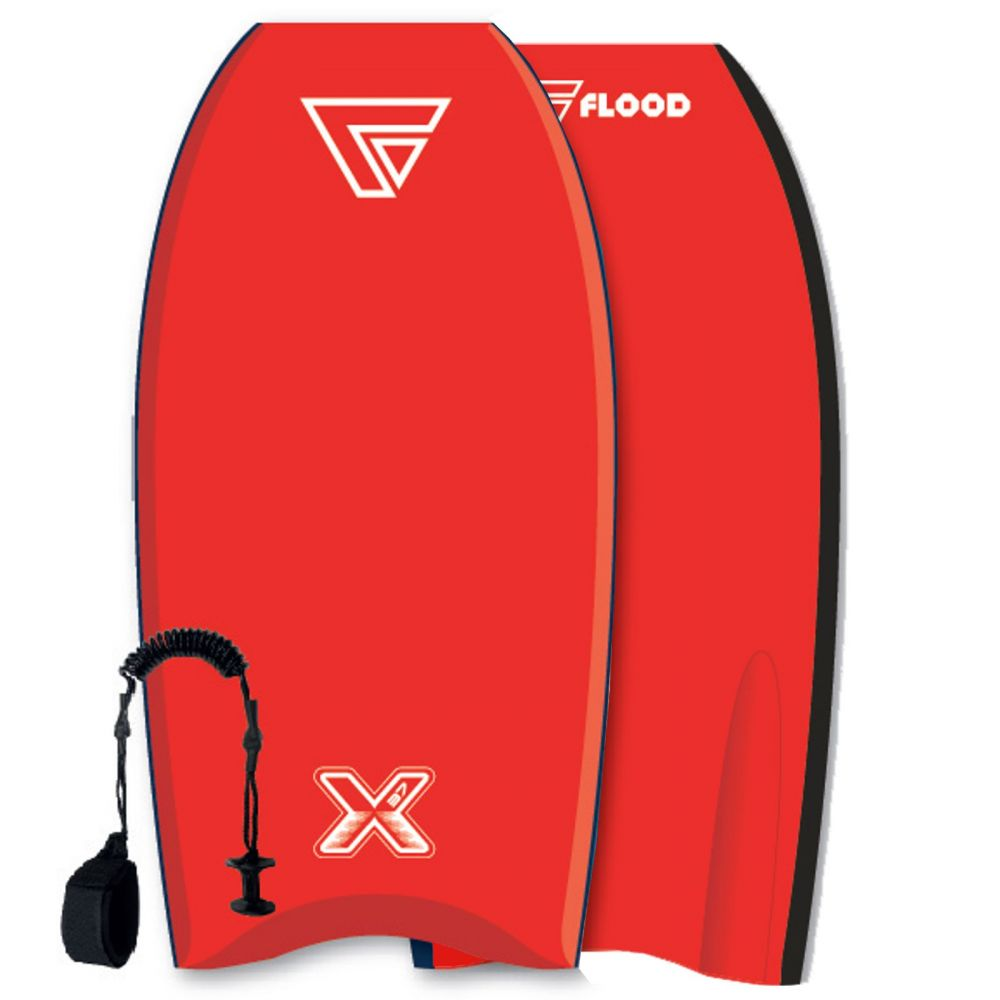 FLOOD Bodyboard Dynamx Stringer 41 Red-Red
