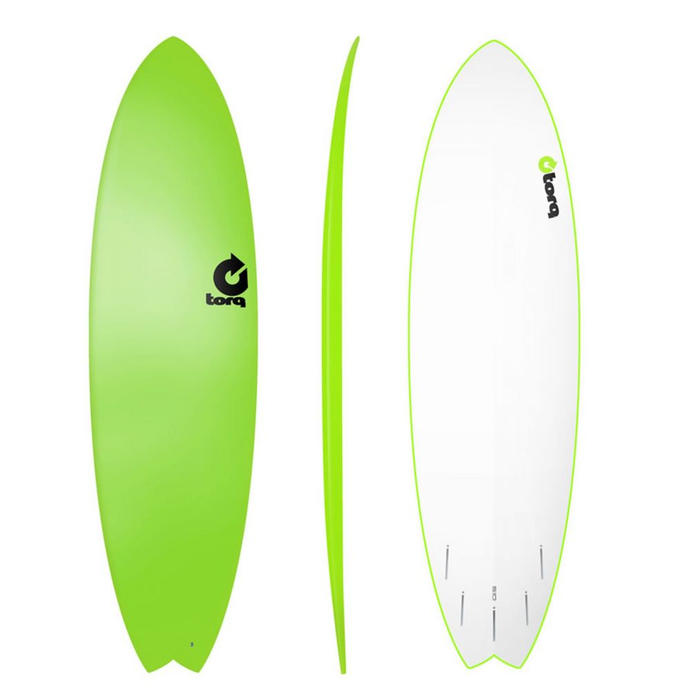 Surfboard TORQ Softboard 6.10 Fish Grün