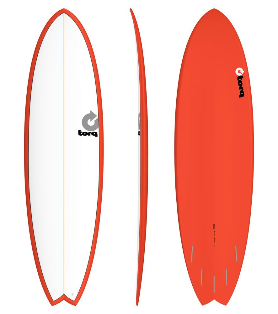 Surfboard TORQ Epoxy TET 6.10 Fish White Red