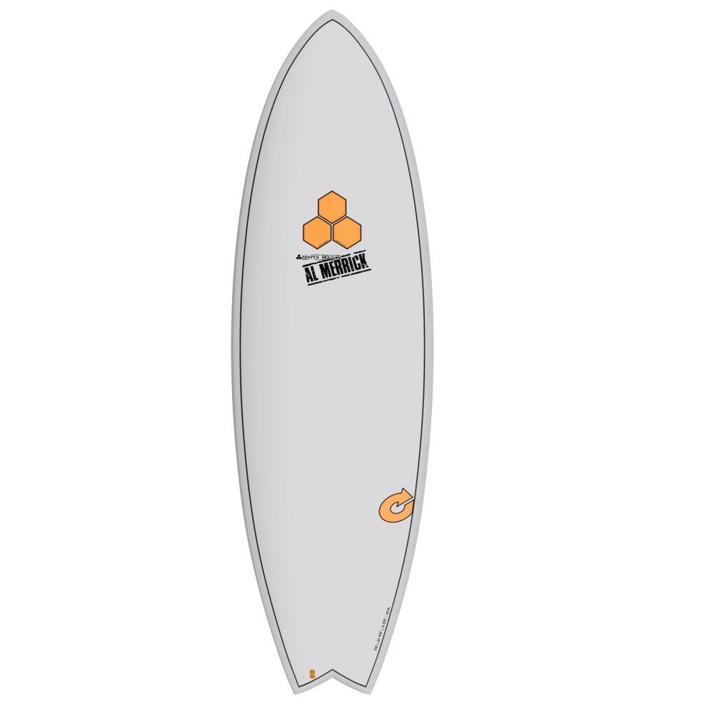 Surfboard CHANNEL ISLANDS X-lite Pod Mod 5.6 grau
