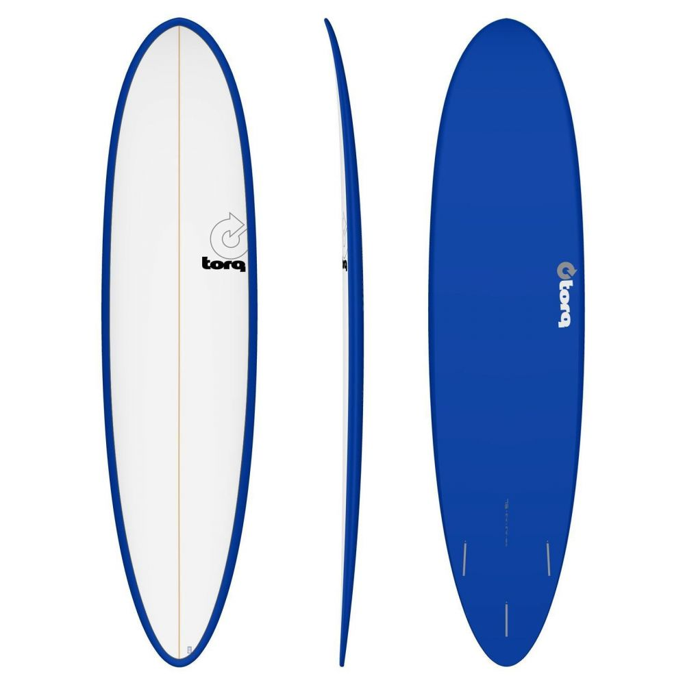 Surfboard TORQ Epoxy TET 7.6 Funboard White Navy