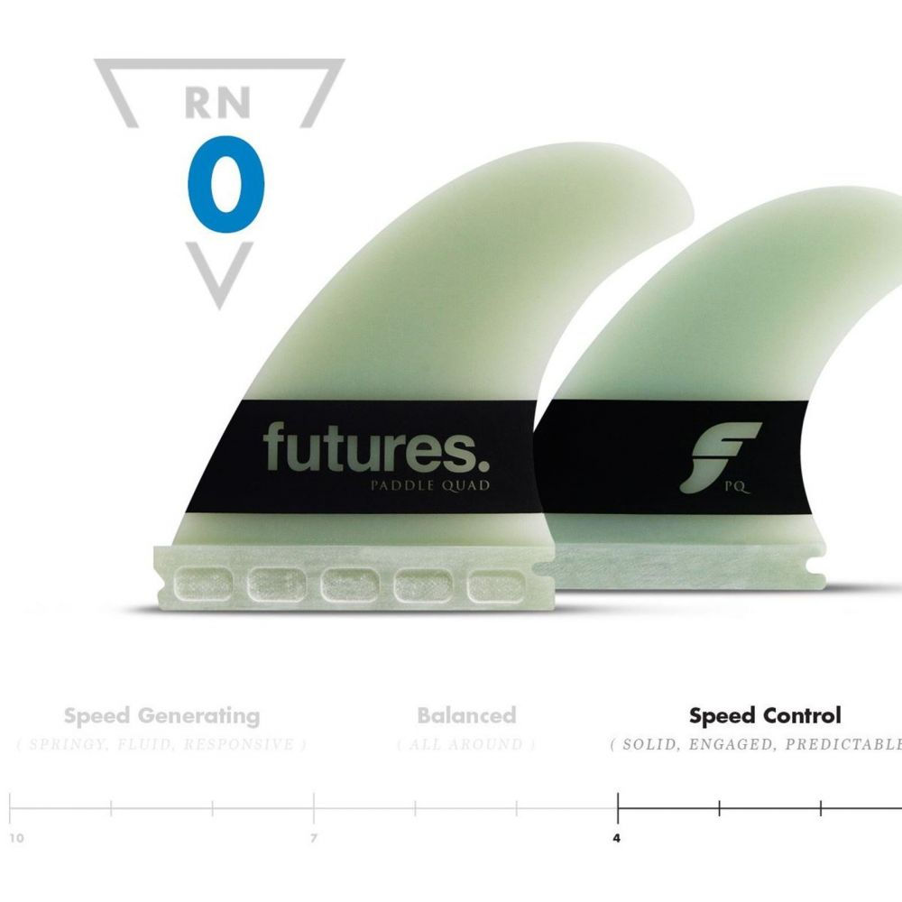 FUTURES Big Wave Quad Fin Set Paddle Gun G10