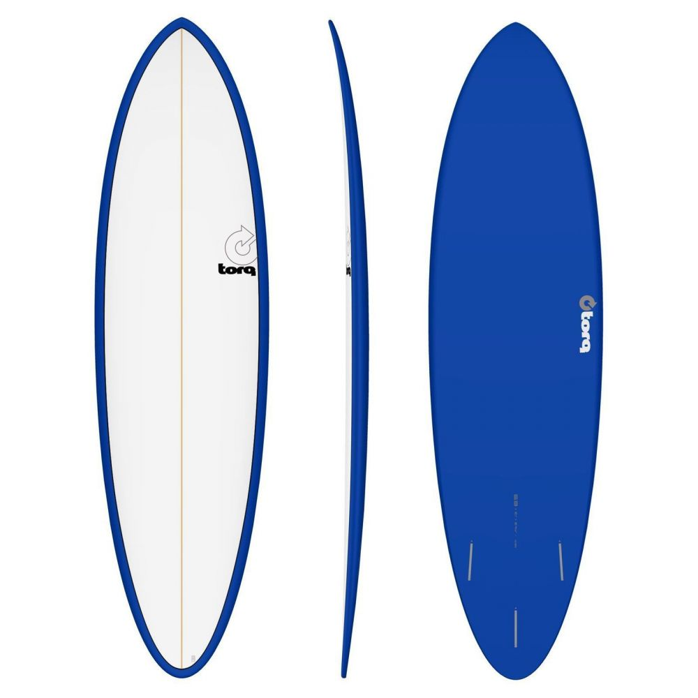 Surfboard TORQ Epoxy TET 6.8 Funboard  white Navy
