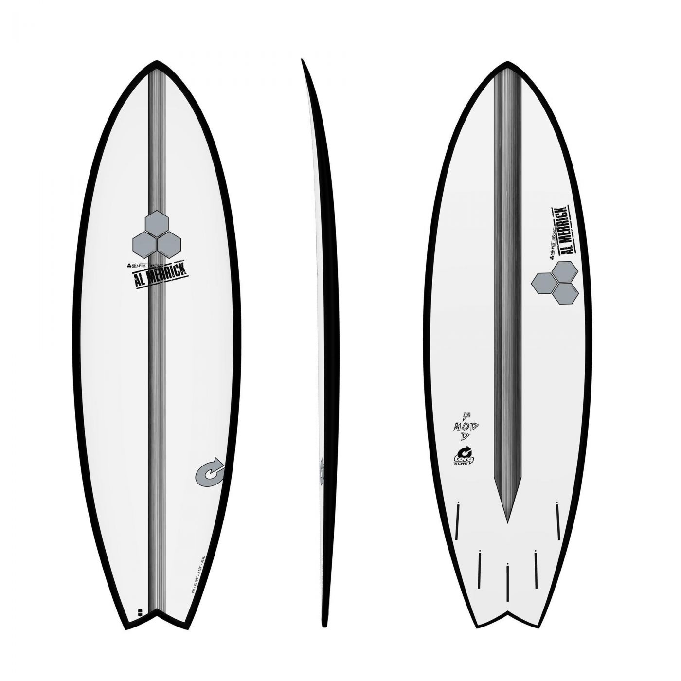 Surfboard CHANNEL ISLANDS X-lite Pod Mod 5.10 blac