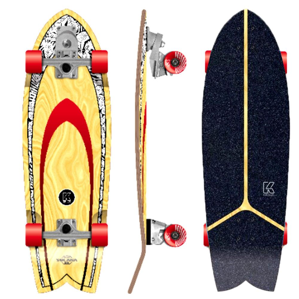 KRUUZE Surf Skateboard Solana 32 Blackleaf