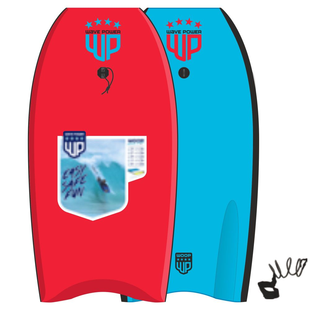 Wave Power Bodyboard Woop 41 Rot Blau