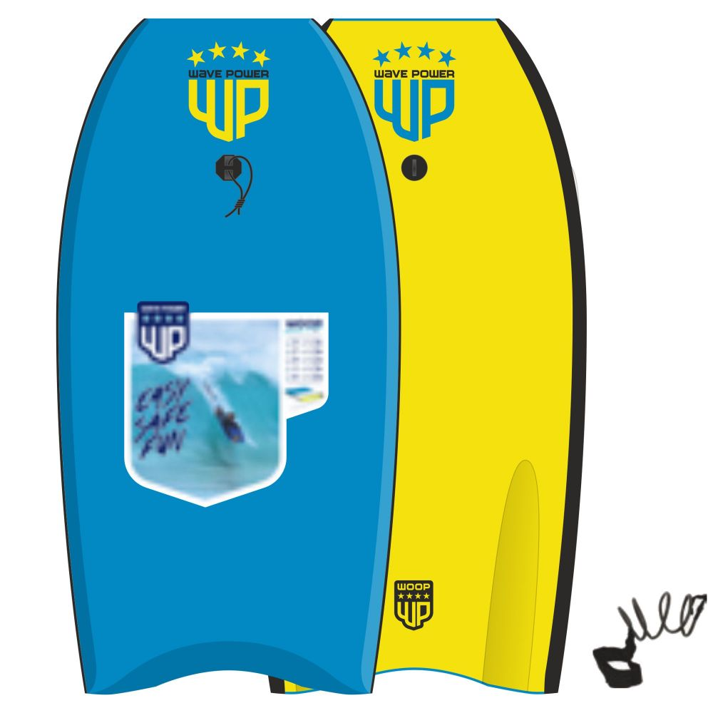 Wave Power Bodyboard Woop 41 Blau Gelb