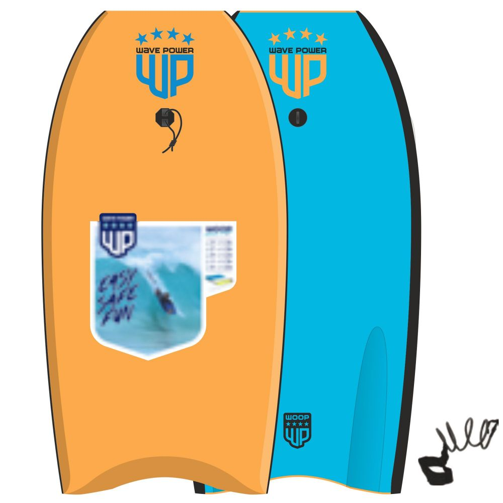 Wave Power Bodyboard Woop 39 Orange Blau
