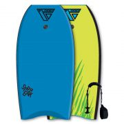 FLOOD Bodyboard Streak 41 Blau-Gelb tiger