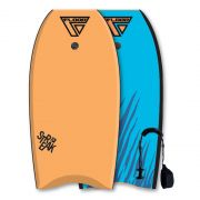 FLOOD Bodyboard Streak 39 Orange-Blau tiger