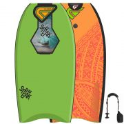 FLOOD Bodyboard Streak 37 Lime Orange Memphis