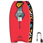 FLOOD Bodyboard Dynamx Stringer 40 Rot Tribal